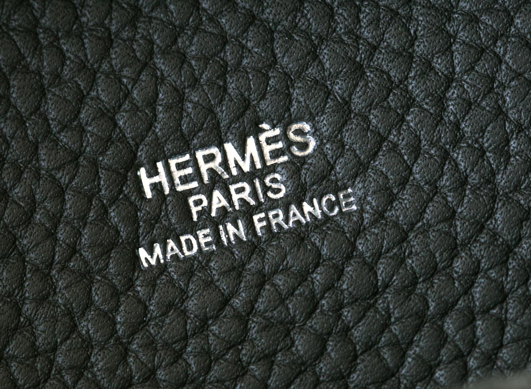 厂家直销 Hermes爱马仕8F锡器灰原厂顶级tc牛皮Picotin水桶包18cm