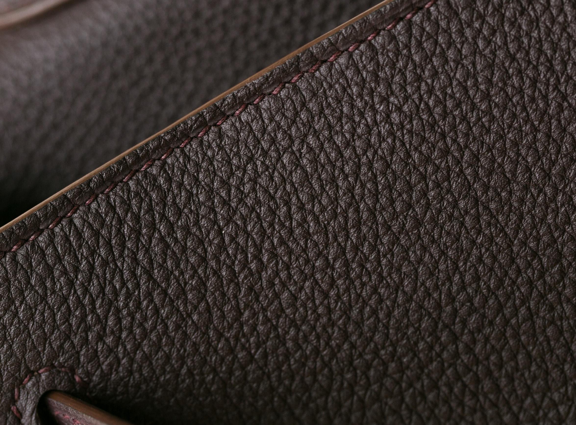 爱马仕凯莉包 Hermes Kelly32cm 4H深咖啡色进口togo牛皮