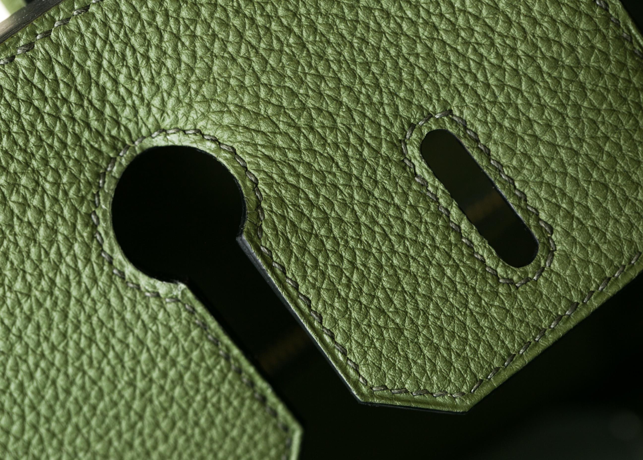 爱马仕Birkin30包价格 V6丛林绿原厂顶级togo牛皮铂金包