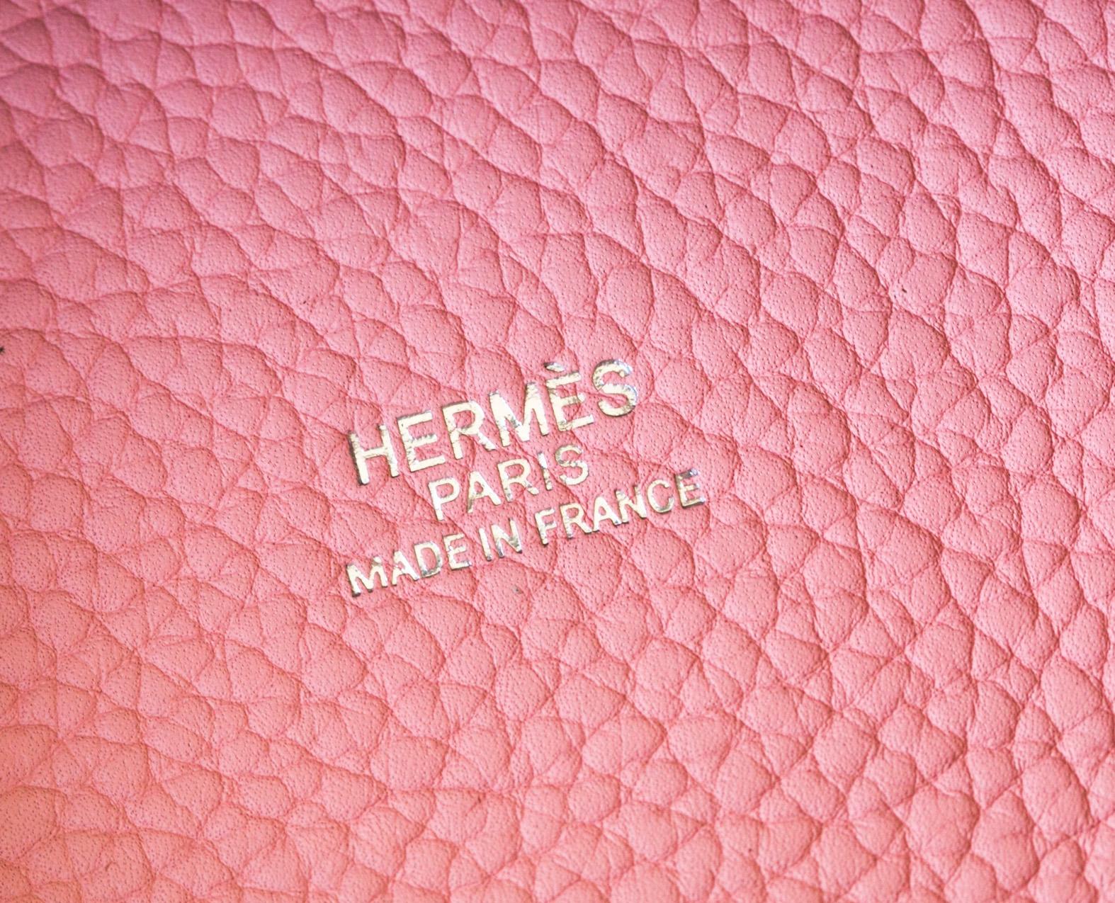 爱马仕包包官网 Hermes Picotin 22cm 1Q奶昔粉原厂TC皮菜篮包