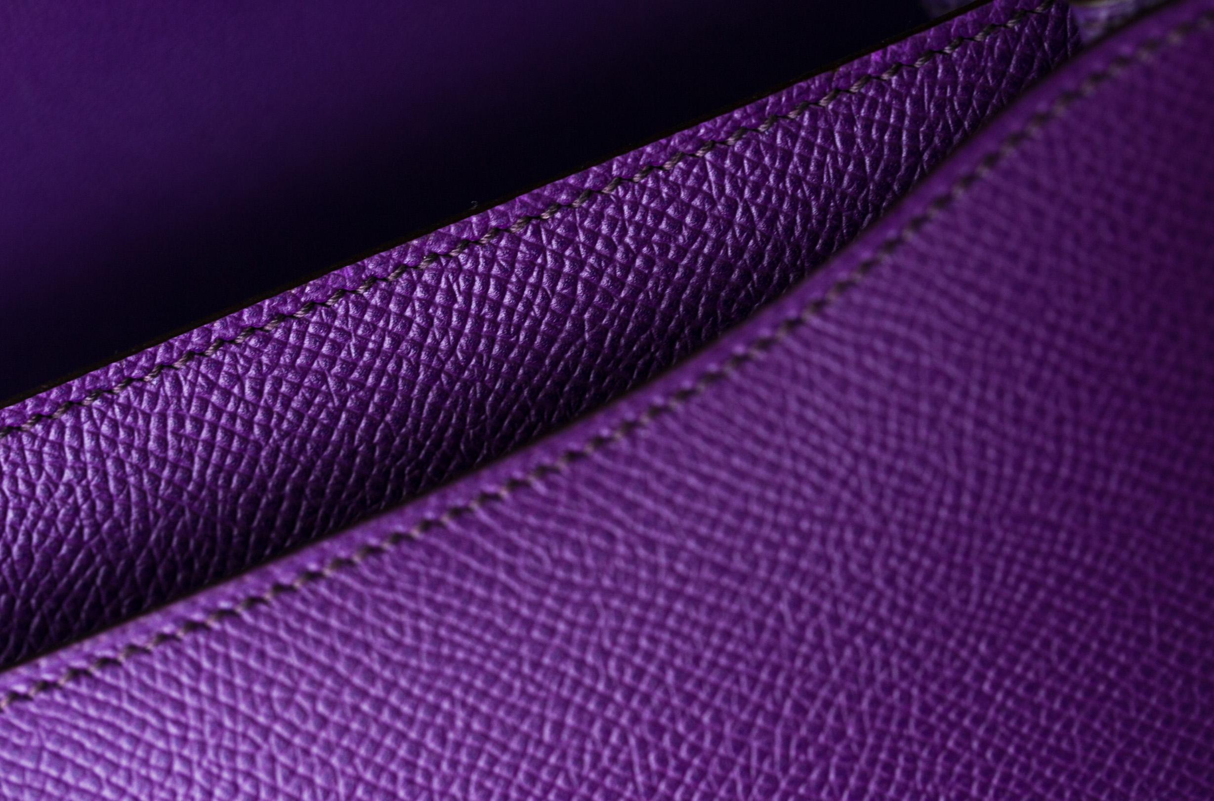 爱马仕空姐包价格 Hermes Constance 26cm 5L极度紫进口epsom牛皮 金扣