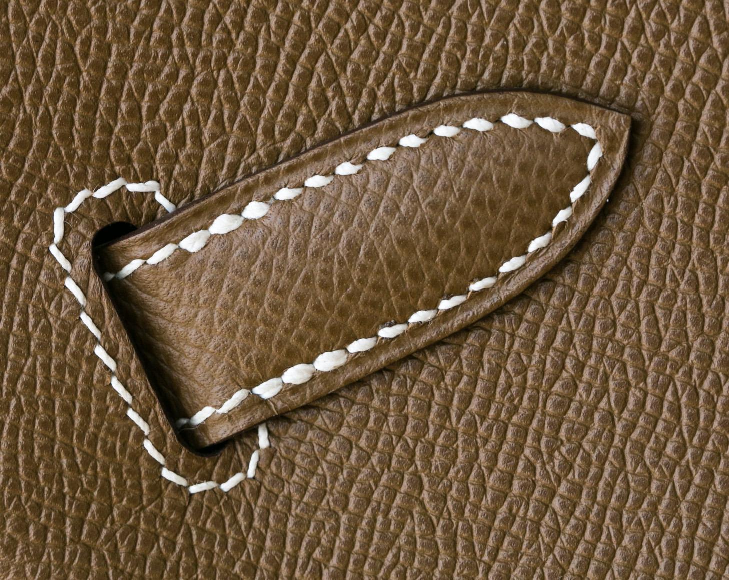 爱马仕铂金包新款 Hermes干邑棕原厂epsom牛皮Birkin35cm 金扣