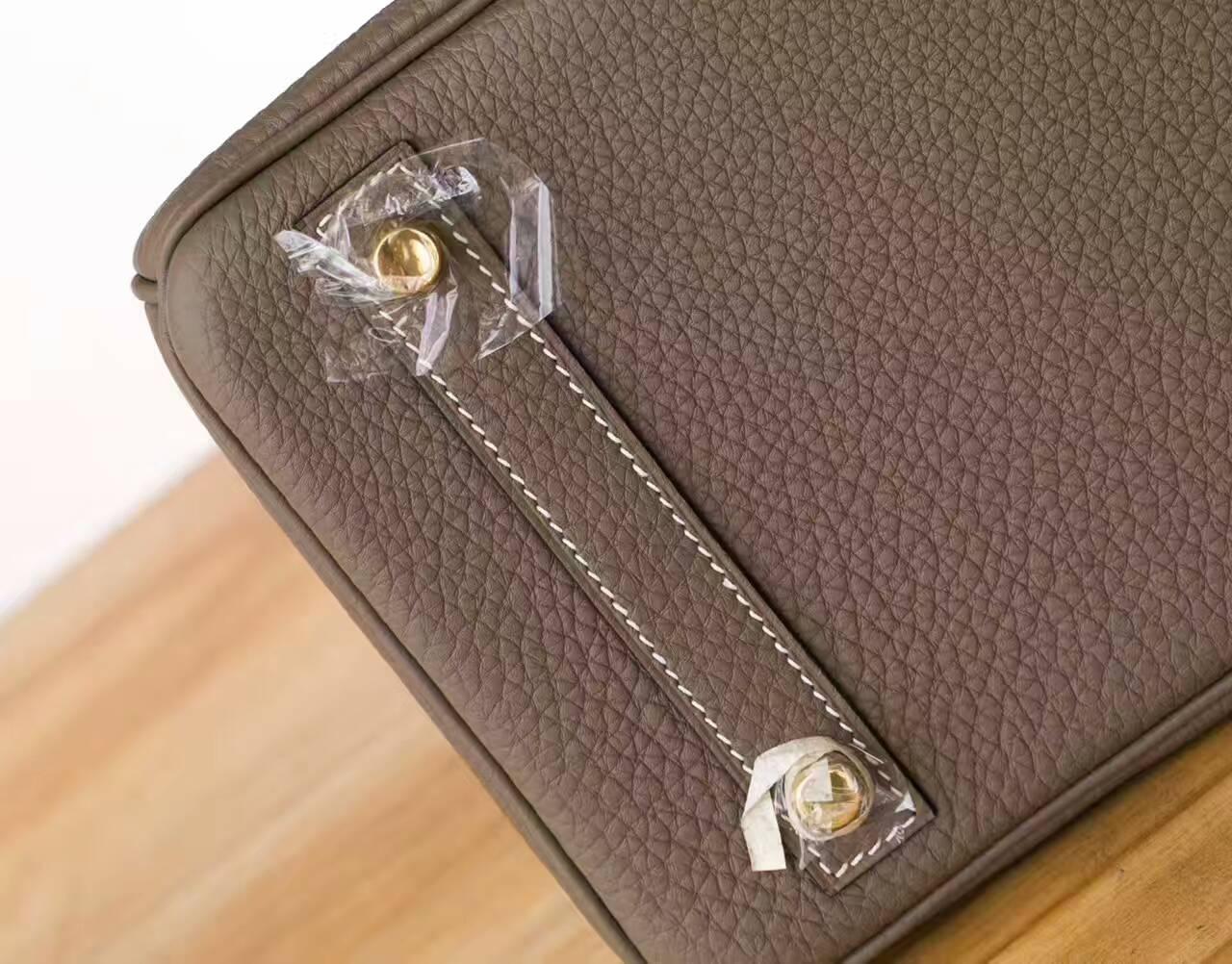 爱马仕Birkin包包 Hermes CK18大象灰原厂togo牛皮铂金包30cm