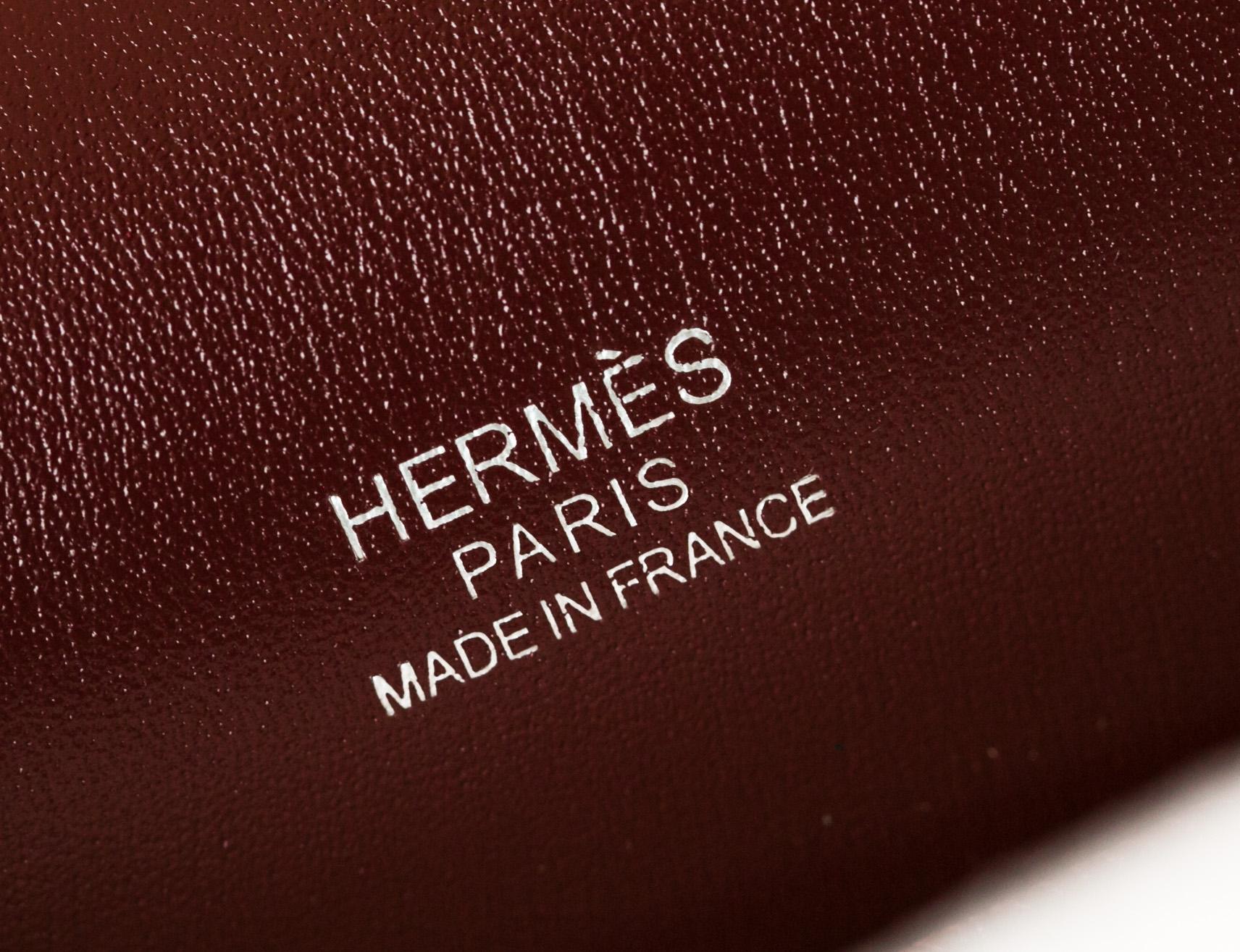 Hermes包包官网 爱马仕猪鼻子包23cm B5宝石红原厂box皮 银扣