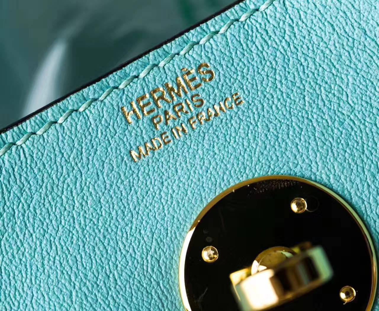 爱马仕琳迪包尺寸 Hermes Lindy 26cm 3P马卡龙蓝原厂swift牛皮