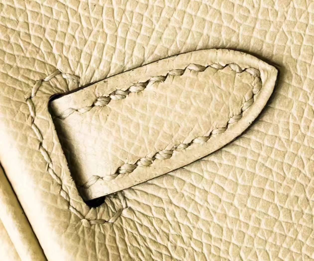 爱马仕Birkin女包 Hermes CK81斑鸠灰原厂epsom牛皮铂金包25cm