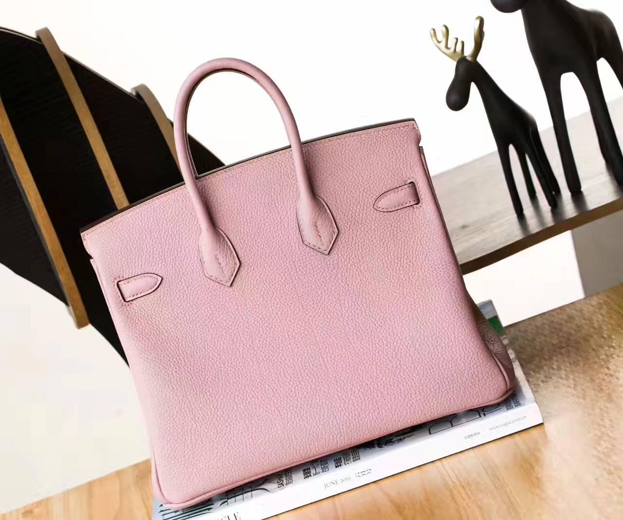 爱马仕Birkin包包 Hermes 4W紫藤色原厂togo牛皮铂金包25cm