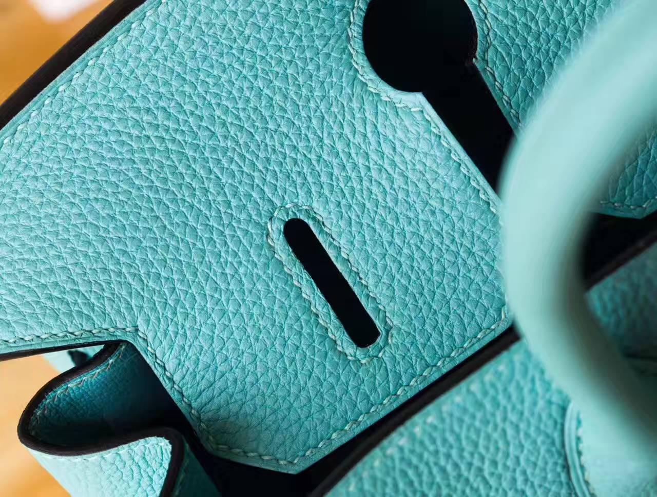 爱马仕铂金包尺寸 Hermes Birkin 30cm 3P马卡龙蓝原厂togo牛皮