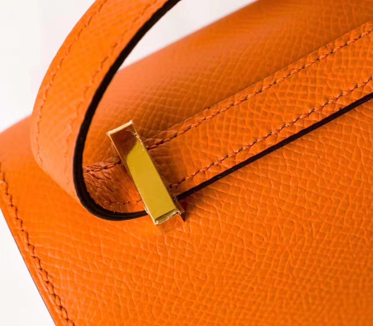 Hermes Constance 26cm 爱马仕橙色原厂Epsom牛皮康斯坦空姐包