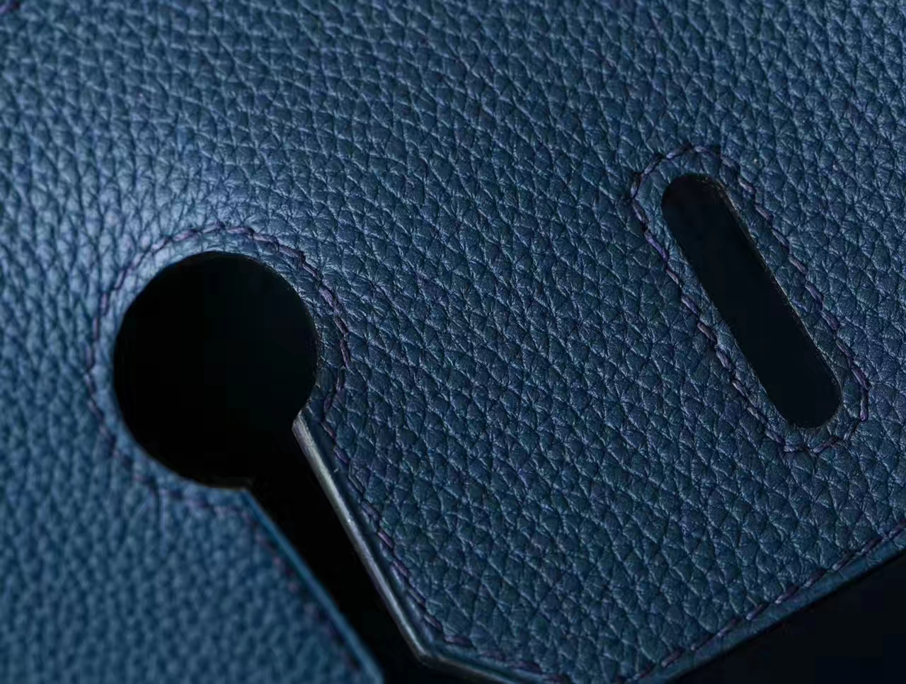 Hermes Birkin 35cm 爱马仕新款铂金包 CK73宝石蓝原厂Togo牛皮