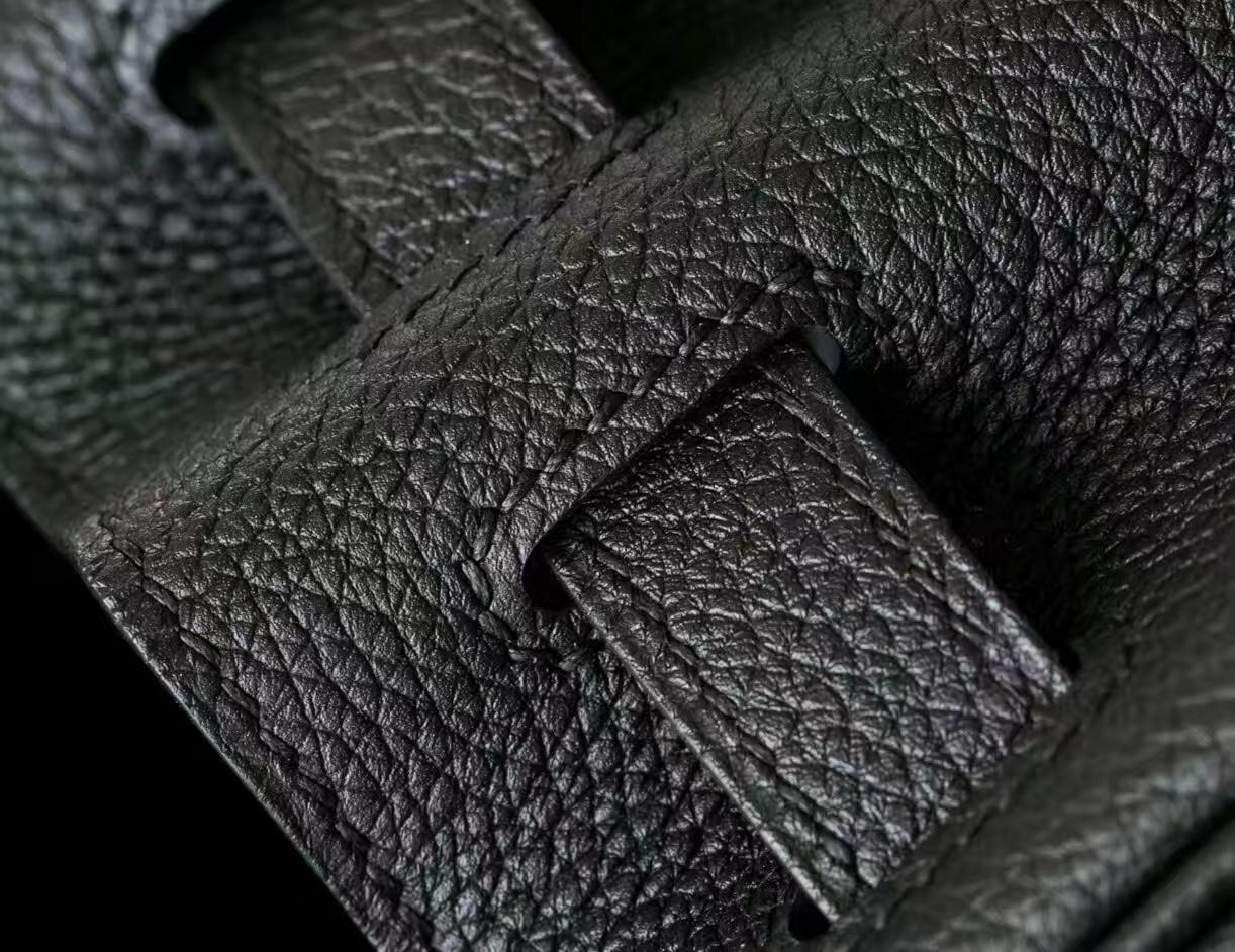 爱马仕包包官网 Hermes Kelly 28cm 黑色原厂togo牛皮凯莉包