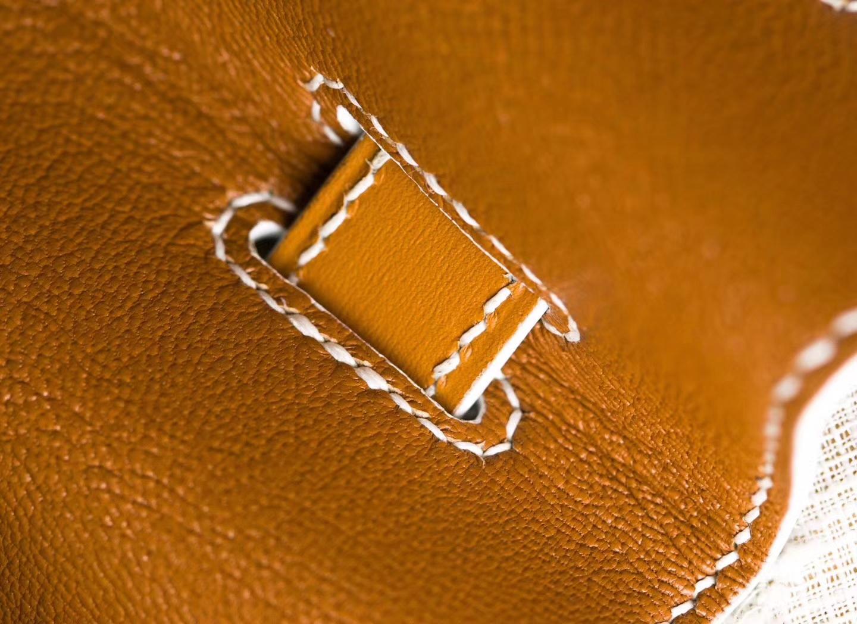 爱马仕铂金包价格 Hermes CK37金色Box牛皮拼白色Epsom牛皮Birkin30cm