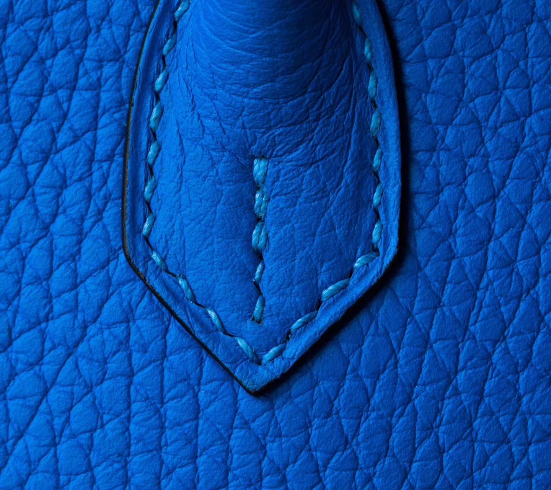 爱马仕Birkin女包 Hermes B3坦桑尼亚蓝顶级TC牛皮铂金包25cm 银扣
