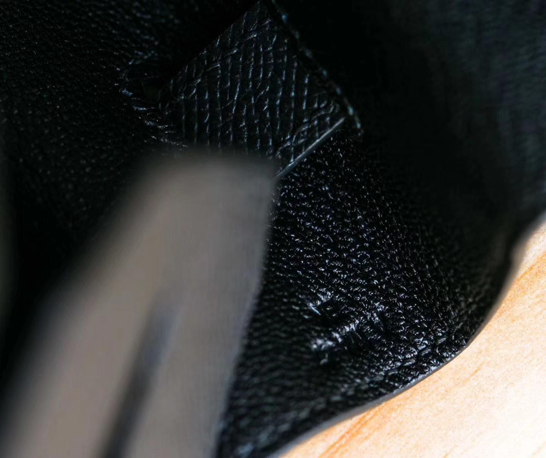 爱马仕铂金包尺寸 Hermes 89黑色epsom牛皮Birkin35cm包包 金扣