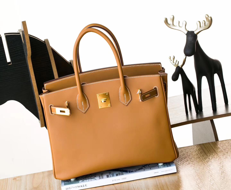 爱马仕铂金包尺寸 Hermes CK37金色顶级box牛皮Birkin30cm 金扣