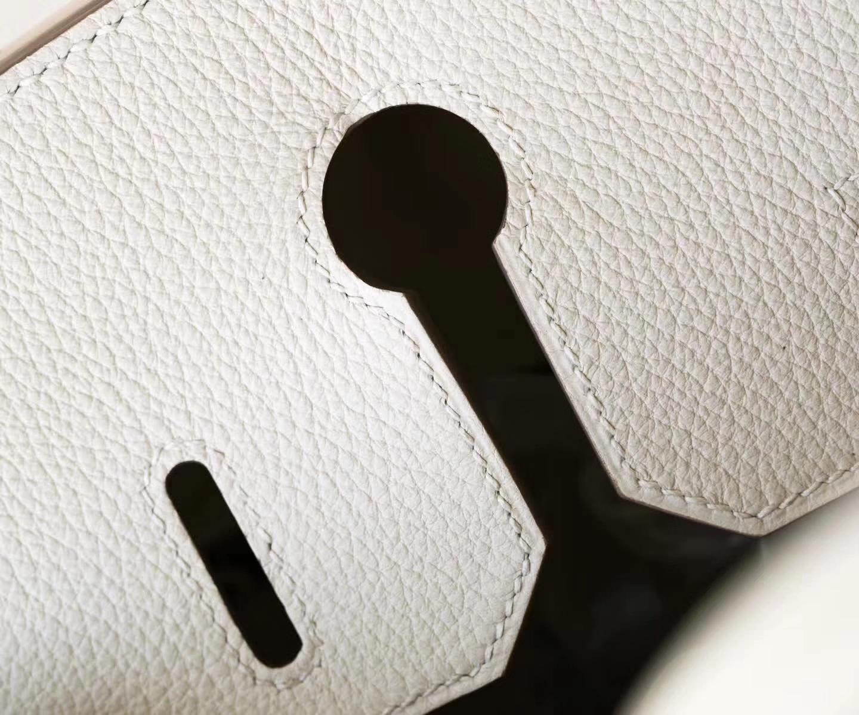 Hermes Birkin30cm 爱马仕铂金包 3C羊毛白Togo牛皮 银扣