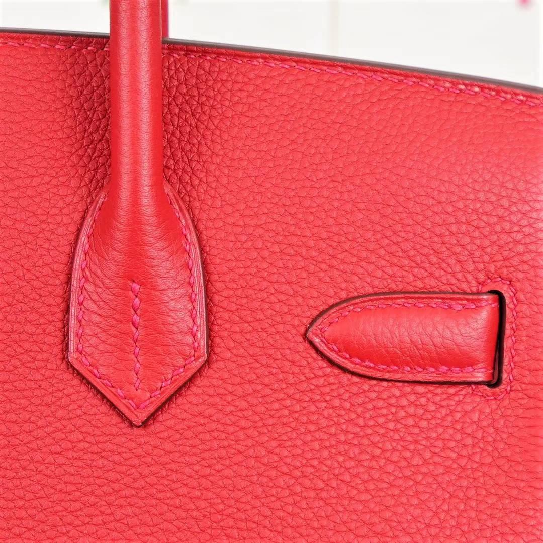 Hermes Birkin30CM 爱马仕铂金包 S5蕃茄红顶级Togo牛皮 金扣