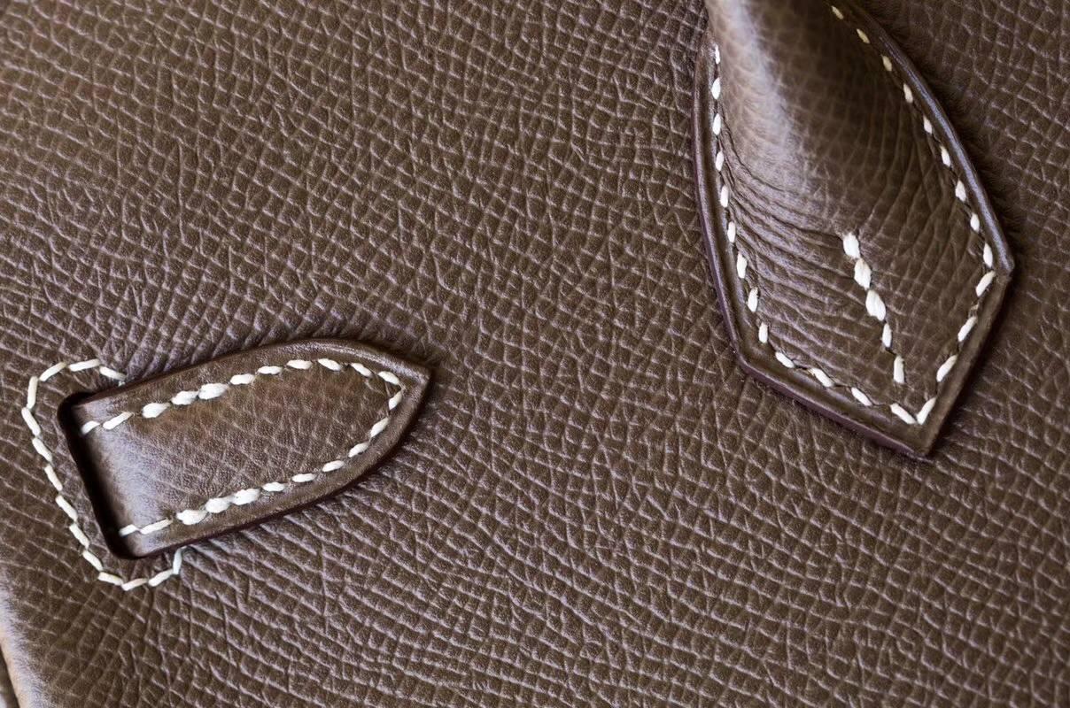 爱马仕铂金包价格 Hermes Birkin25CM 大象灰顶级Epsom牛皮 金扣