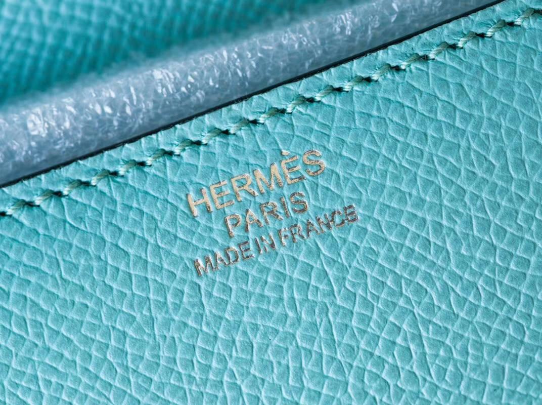 Hermes Constance26CM 爱马仕马卡龙蓝顶级epsom牛皮空姐包 银扣