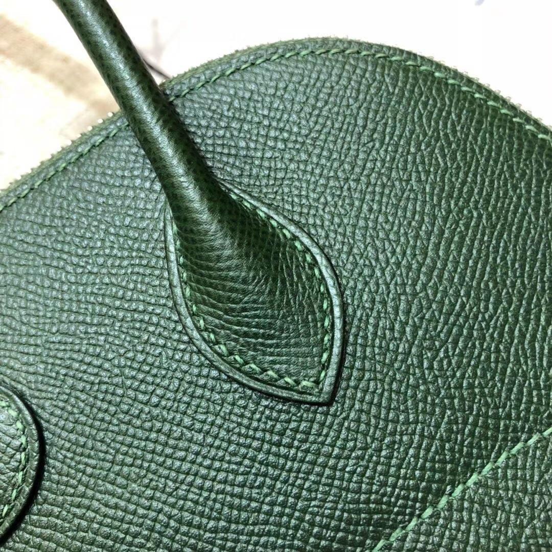 爱马仕保龄球包 Hermes Bolide27CM 英国绿顶级Epsom牛皮手提女包