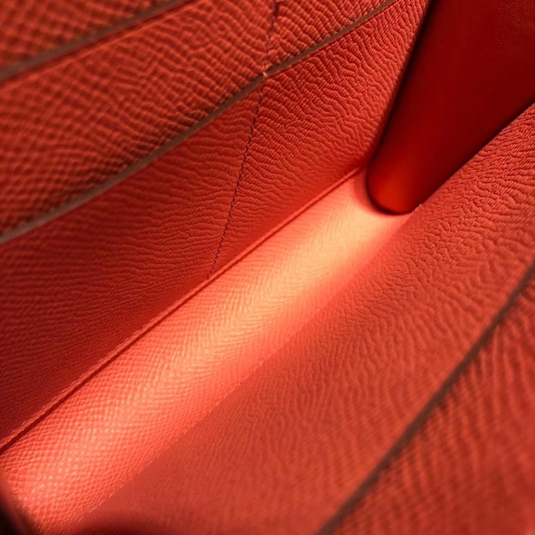 一件代发 Hermes爱马仕进口Epsom牛皮Clic新款单肩斜挎女包16CM 火烈鸟粉