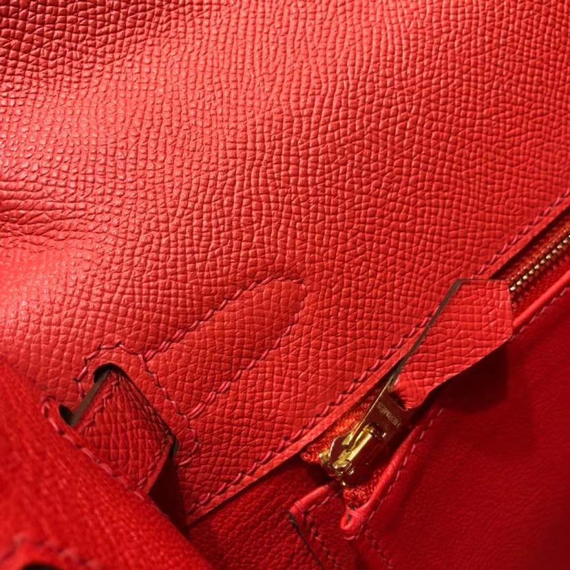 爱马仕凯莉包价格 Hermes Kelly28CM 西瓜红顶级Epsom牛皮 金扣
