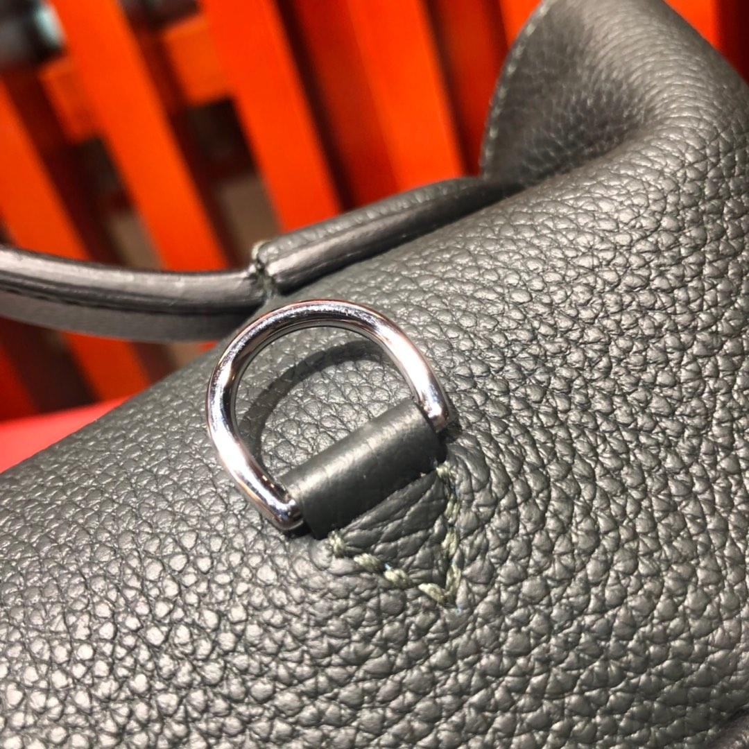 爱马仕女包定制 Hermes Kelly24-24 29CM石墨灰法国Togo牛皮新款凯莉包 银扣