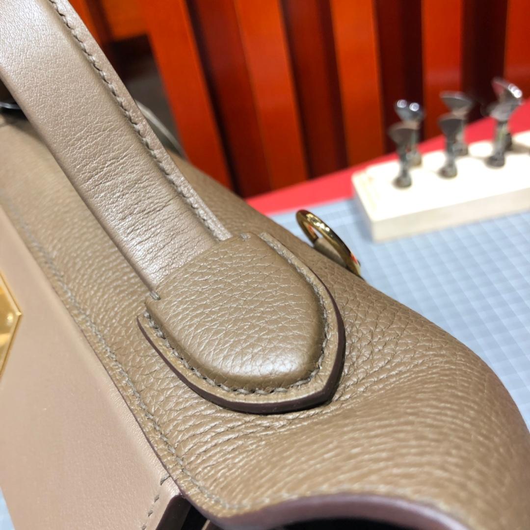 爱马仕包包价格 Hermes 24-24Kelly深大象灰进口Togo小牛皮凯莉包29CM 金扣