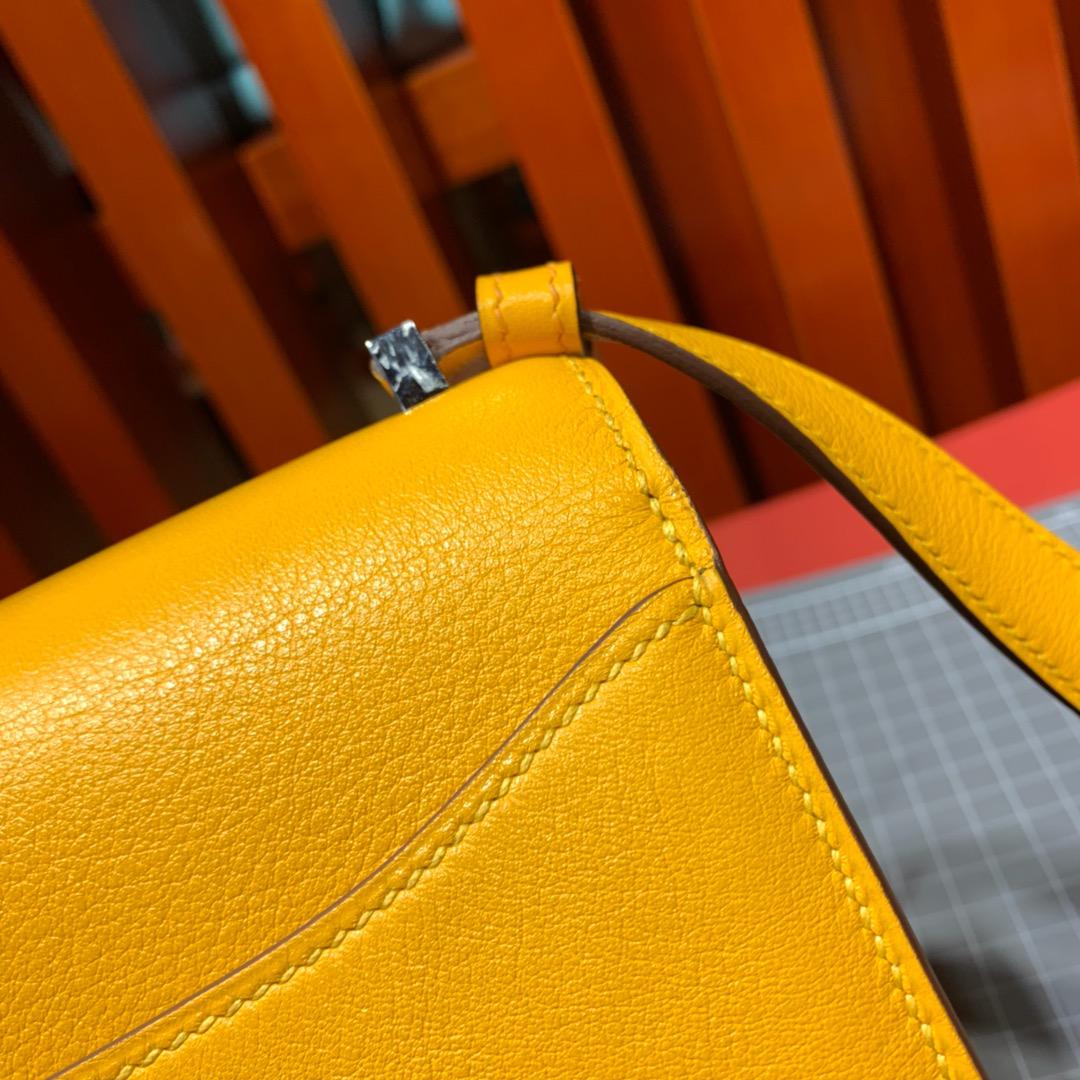 爱马仕新款女包 Hermes Constance2002 9D琥珀黄Evecolour牛皮新款康斯坦包