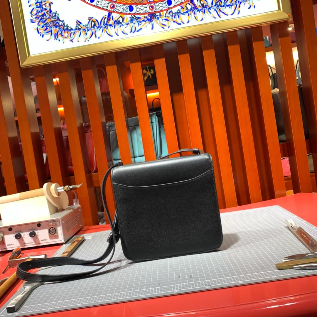 爱马仕女包价格 Hermes Constance2002 黑色Evecolour牛皮斜挎包20CM