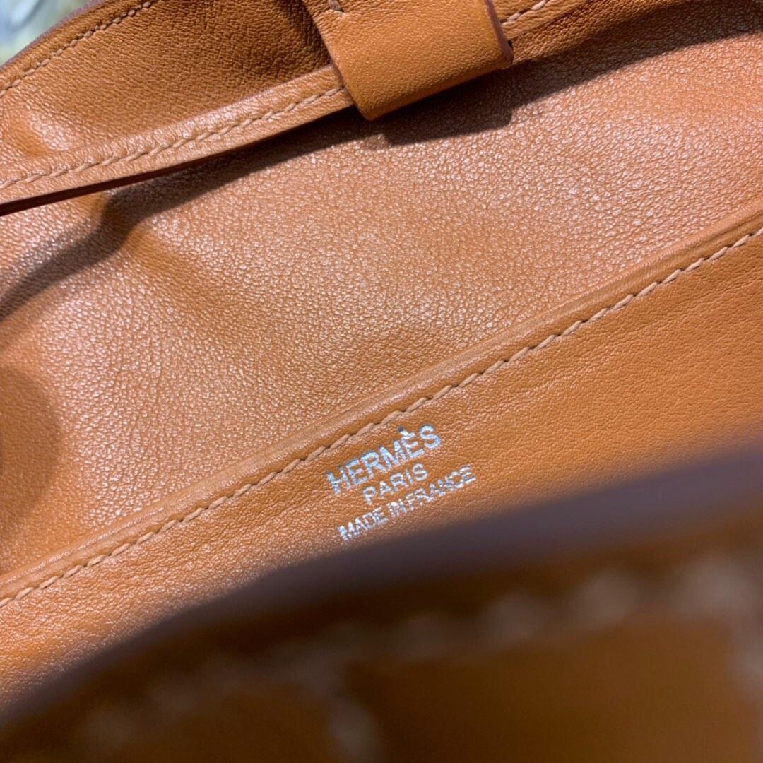 爱马仕升级版菜篮子 Hermes Licol17CM 进口Evercolor皮水桶包
