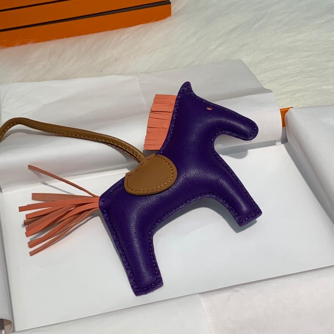 爱马仕纯手工缝制包包挂饰 Hermes原厂绵羊皮小马挂件 多色