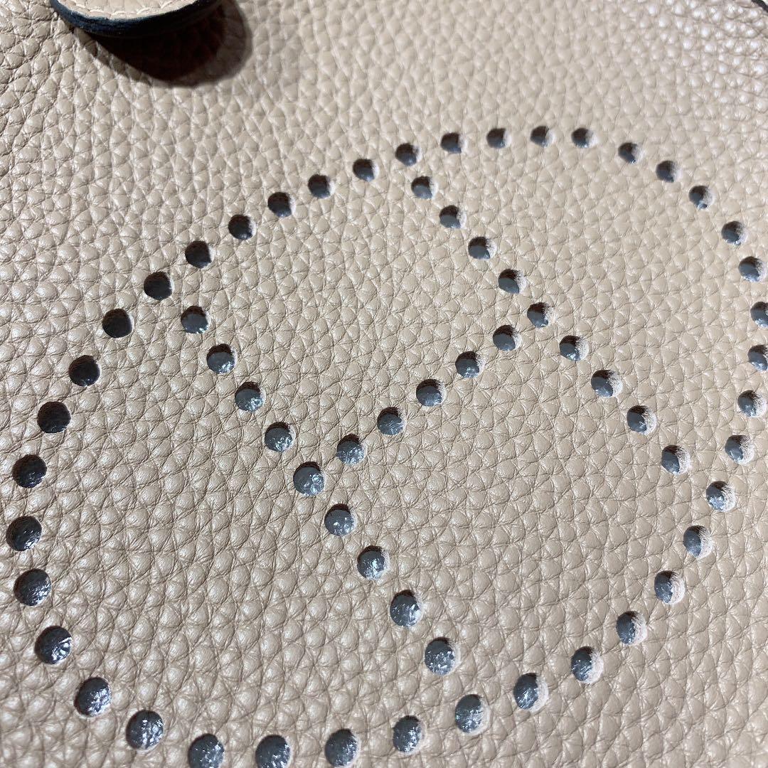爱马仕Evelyne包包 Hermes原厂Togo牛皮伊芙林包 斑鸠灰 银扣