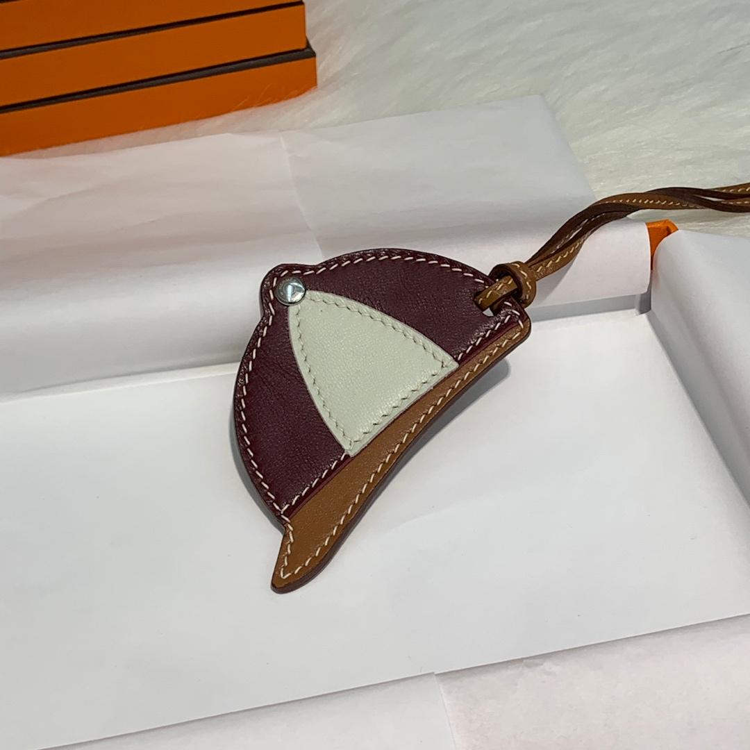 纯手工缝制 Hermes爱马仕原厂绵羊皮包包挂饰帽子挂件 多色