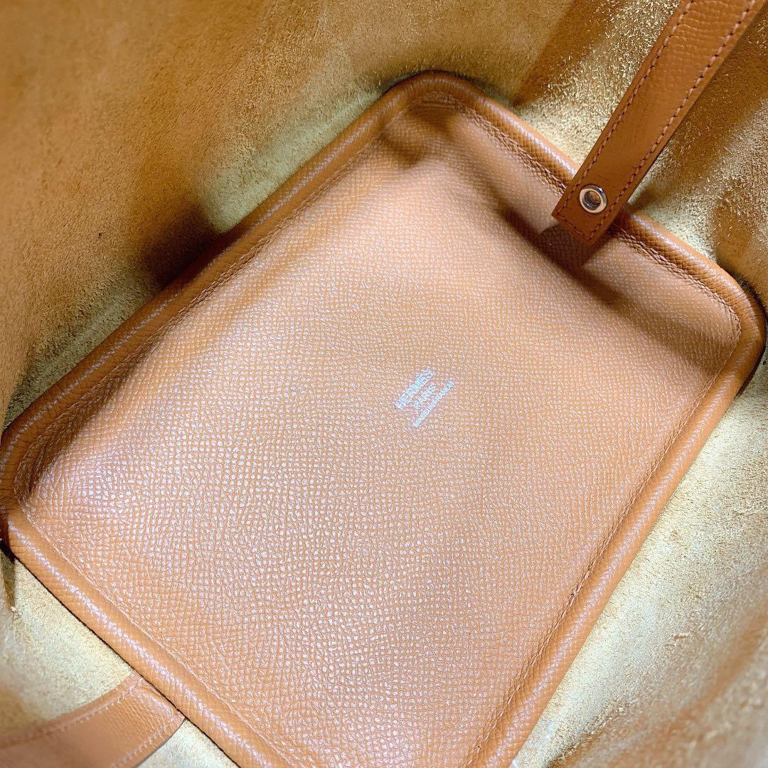 Hermes Picotin18CM 爱马仕Epsom皮水桶包编织手柄 土黄色 银扣