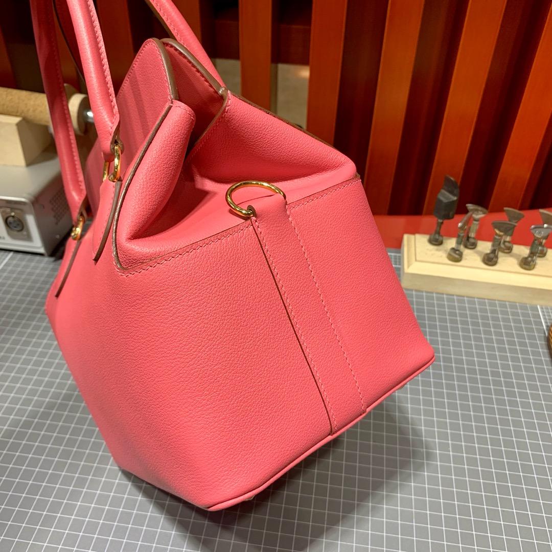 爱马仕Toolbox包包20CM Hermes唇膏粉法国Evercolor牛皮盒子包手提包