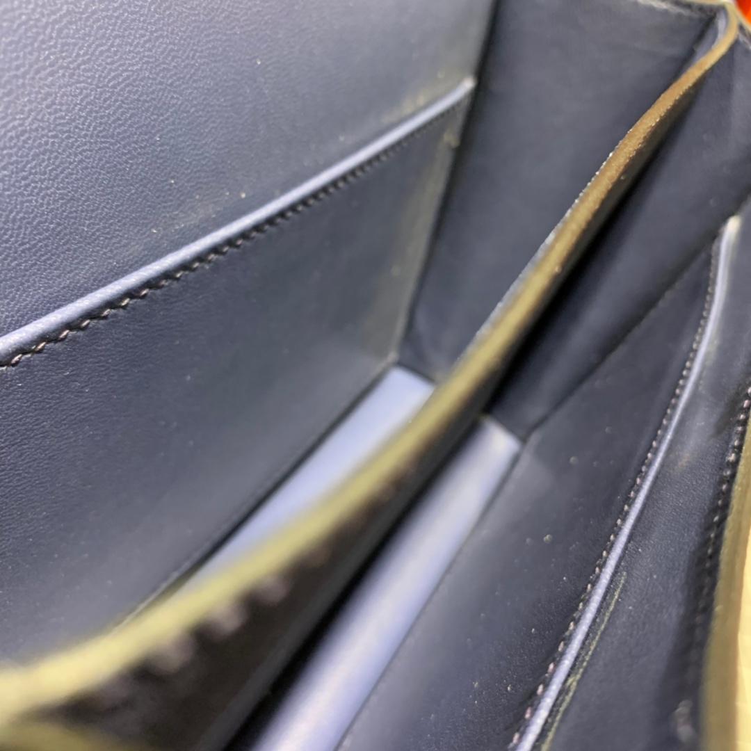 爱马仕康斯坦包尺寸 Hermes Constance19CM 宝石蓝Epsom皮 银扣