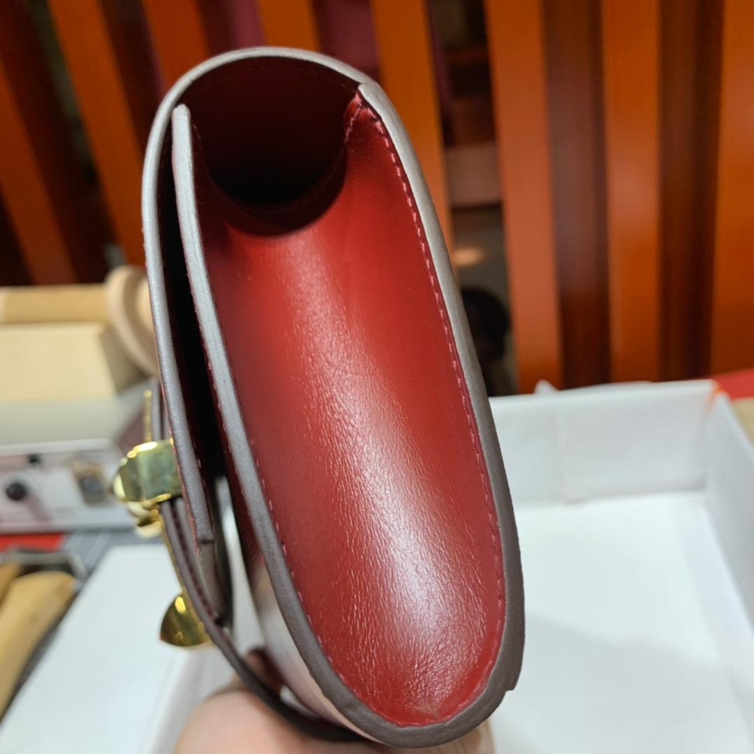 爱马仕手拿包新款 Hermes Medor Clutch酒红色Swift皮晚宴手包