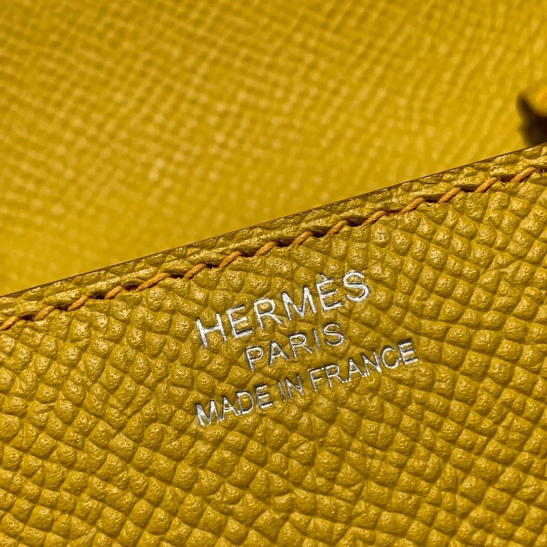 现货 爱马仕克利奇女包 Hermes Clic16CM斜挎包 9D琥珀黄Epsom皮 银扣