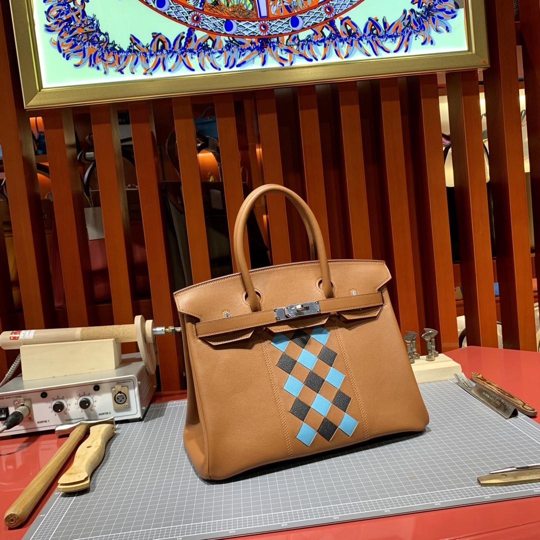 爱马仕包包价格 Hermes限量版苏格兰铂金包 CK37金棕色Swift牛皮 银扣