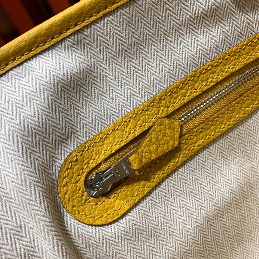Hermes经典包包 爱马仕进口Country皮花园包Garden Party30cm 琥珀黄