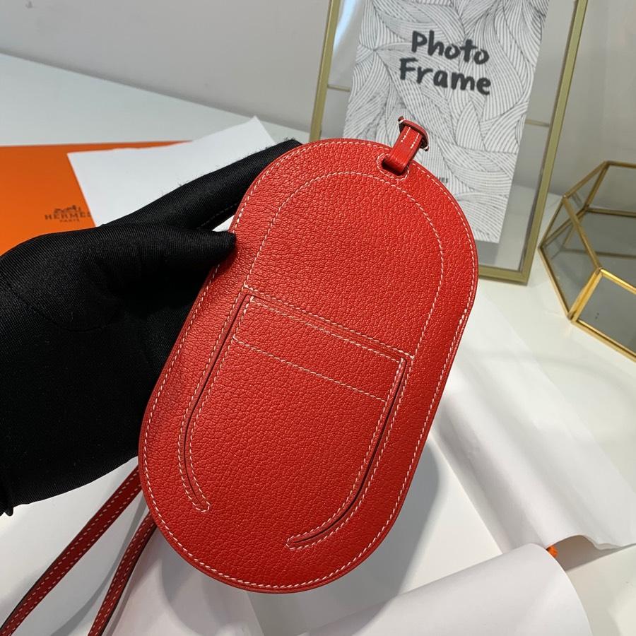 现货 Hermes新款挂件 爱马仕红色World B包包挂饰挂件