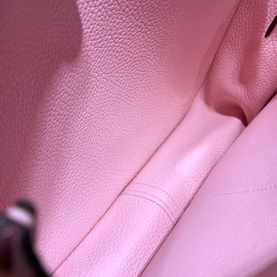 现货 爱马仕新款女包 Hermes Halzan31CM 3Q粉色Tc皮马蹄包